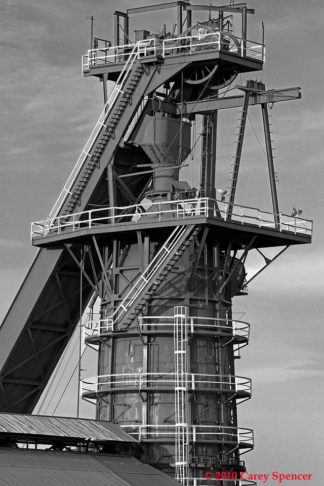 Black and White Photograph Historic Sloss Furnaces Birmingham Alabama