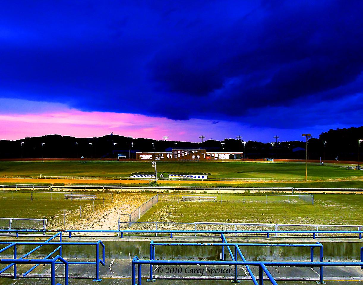 Stormy Birmingham Race Course Dusk