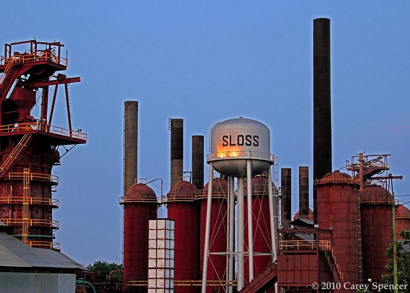 Sloss Furnaces Birmingham, Alabama at Dawn