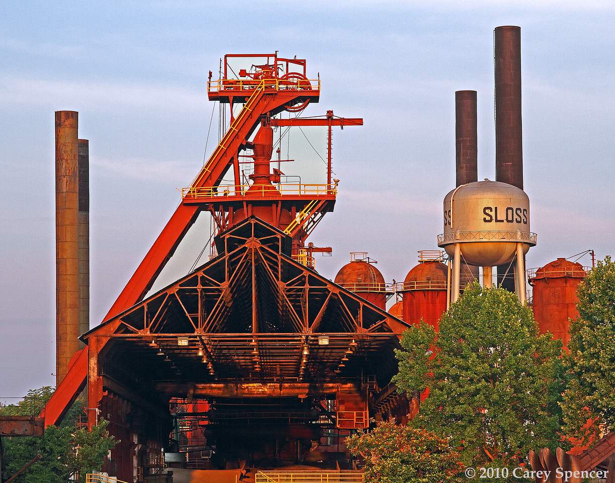 Historic Sloss Furnaces at Dawn