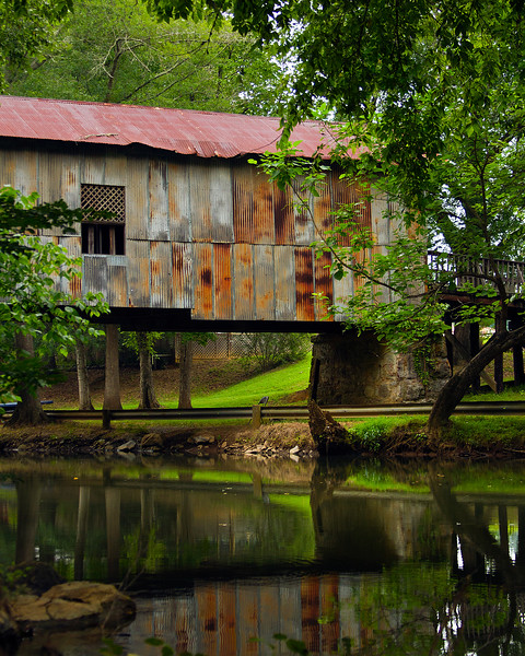 Covered Bridge at Kymulga Mill, Alabama in Talladega County