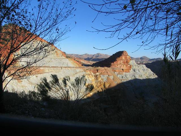 We stayed at the Queen Mine RV Park in Bisbee. This is the view to the East from the back of the MH.