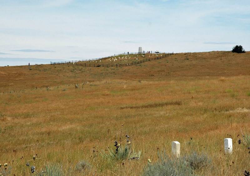 Lokking up At Custer's Last Stand