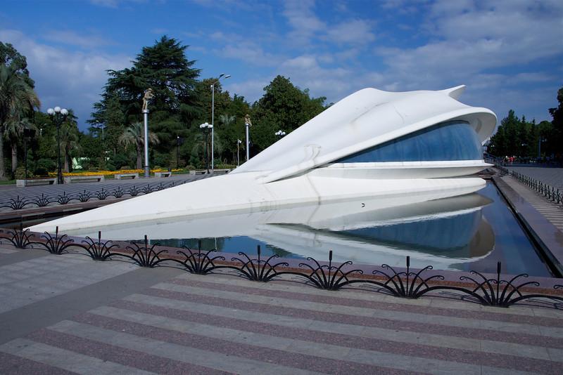 Jules Verne Nautilus-like wedding chapel in Batumi, Georgia. _DSC4735