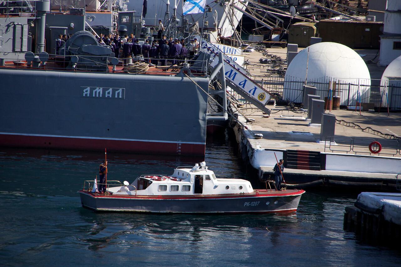 Large ship in Sevastopol harbor, Ukraine. _DSC4408