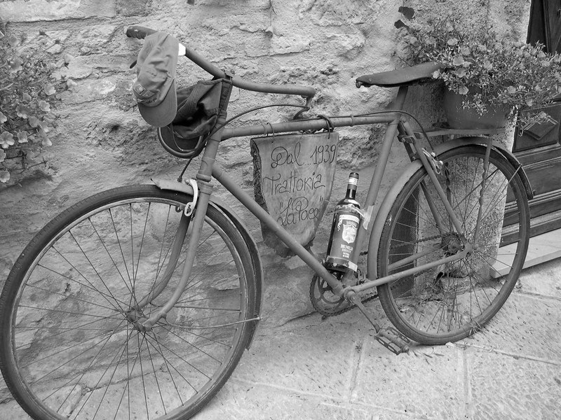 Volterra Italy bicycle
