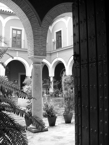 Peering through the arches to a peacful courtyard - Ecija - Spain