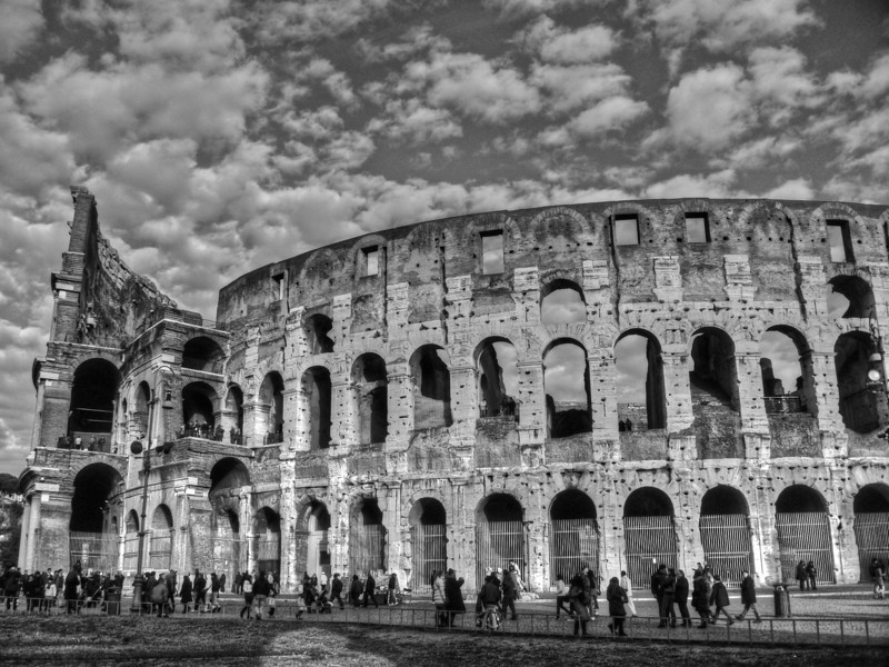 Colosseum - the side view