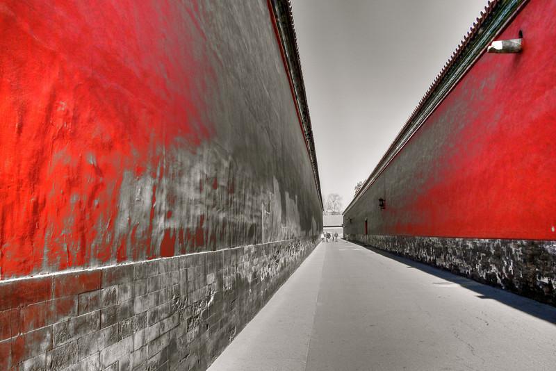 walkway between the walls
