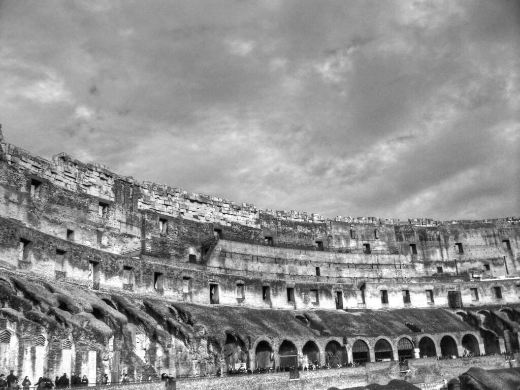 Inside of the Colosseum