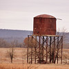 Blanco Coal Co. #3 mine SW of Blanco. This is the only known example of a railroad water tower that served a mine left standing. It served the MKT railroad that ran by the mine.