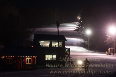 Early morning on Broadway for Interclub race held at Blandford Ski Area on January 15, 2012