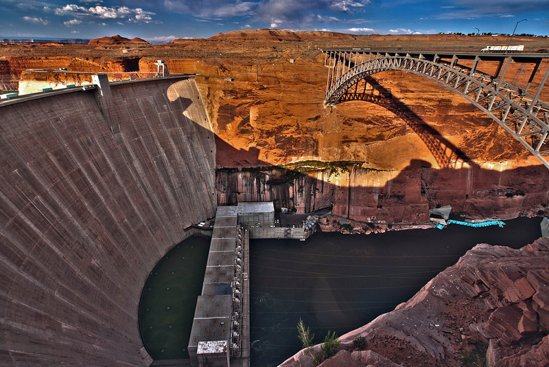 Glen Canyon Dam at Page, Arizona