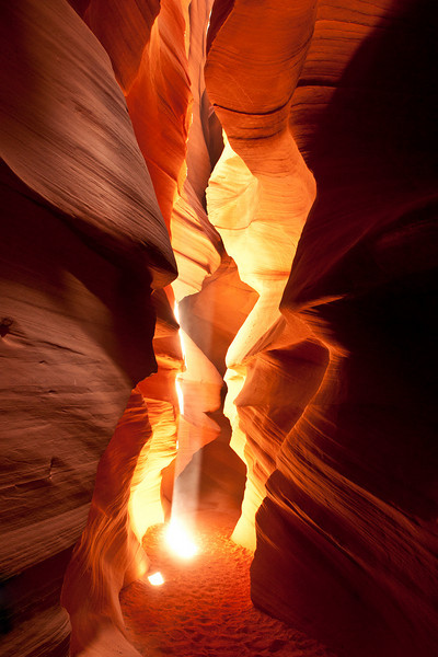 Upper Antelope Canyon : Palettes & Light beams