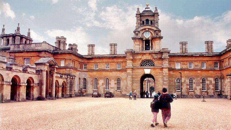 Clock courtyard Blenheim Palace England - Jul 1996