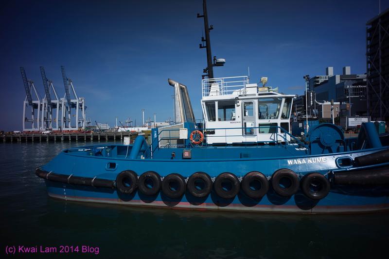 'Wakakume' tug boat, Auckland Harbor