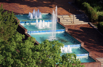 The Duluth Courthouse fountain.
