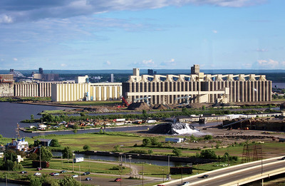 Vast grain silos.  Duluth is an important agricultural distribution center.