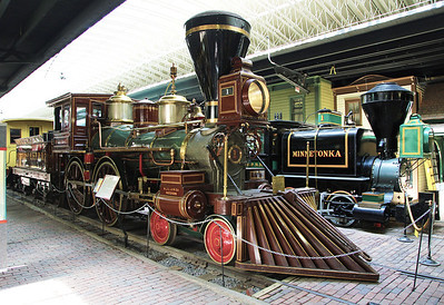 "Remember that Depot Museum?  This is its 4-4-0, the ""American Type Locomotive"""