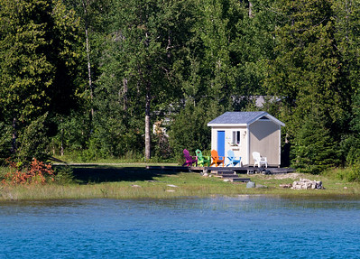 Someone's tiny house on the shore of Beaver Island