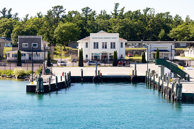 The Grande Mariner will berth directly in front of the Beaver Island Community Center.
