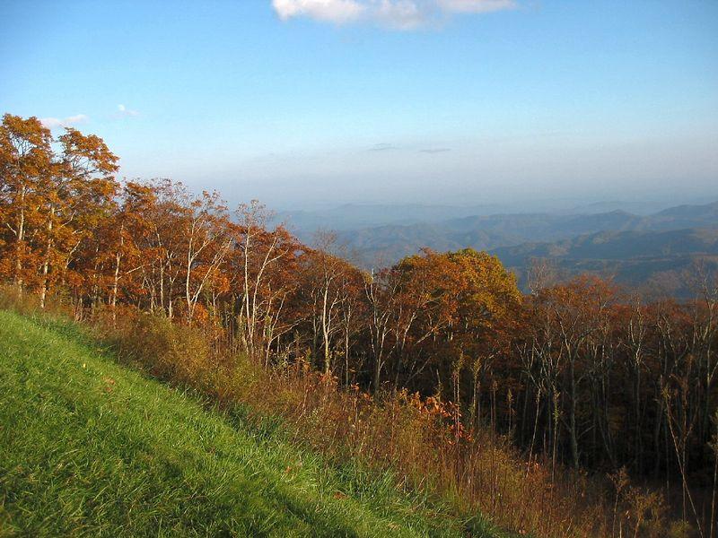 Fall scene off Blue Ridge Parkway near Blowing Rock