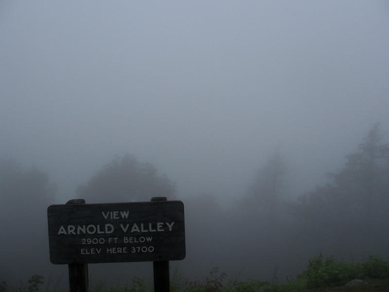 The descent to the James River was over 3000 feet down, about half of which was in thick fog.