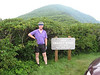 Here I am at the high point of my trip. On the first day, I went from 2100 feet in Hendersonville to 5640 feet here. I think most of the remaining days in the trip had more total climbing, they just didn't end up as high.