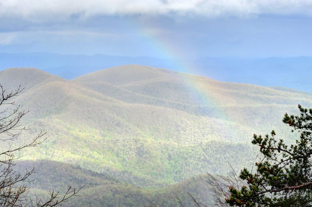 Rainbow over Laurel Knob