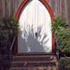 Inviting church door