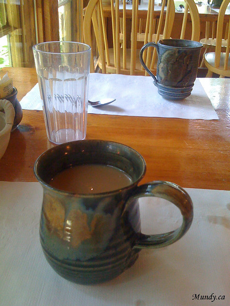 Mugs filled with delicious coffee