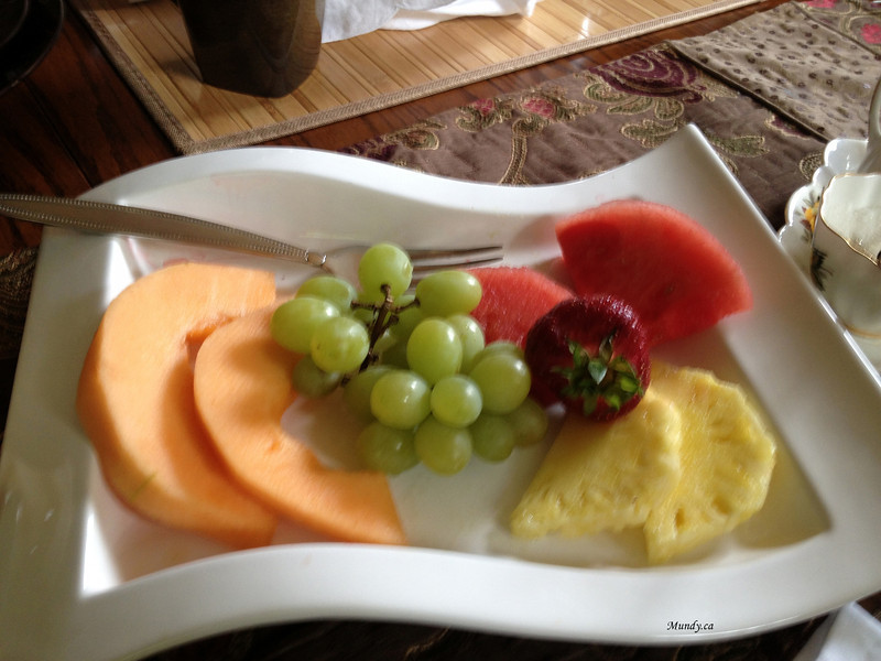 Again the fruit plate after we picked it clean.  Lots of fresh variety.