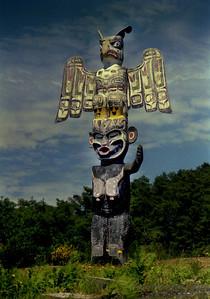 Totem at Alert Bay, Canada