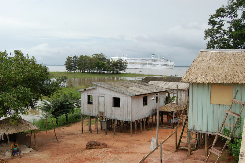 View of Stilted Homes on River