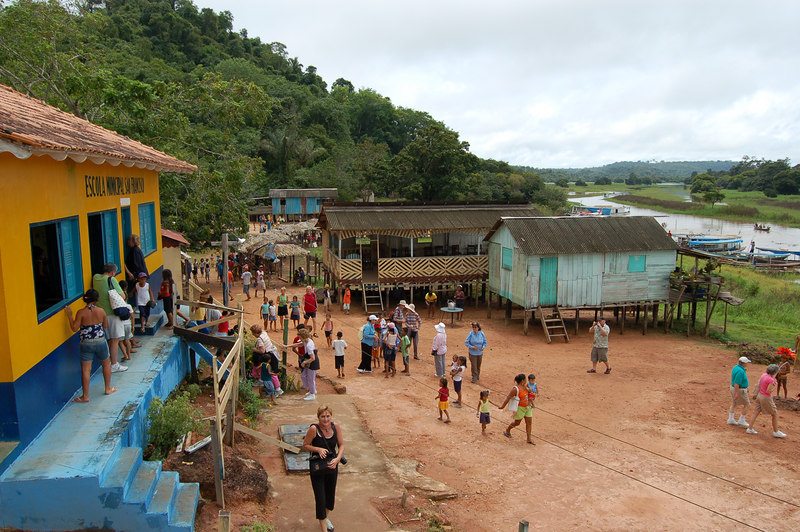 Boca da Valeria is small Village of less than 500 Amazon Indians