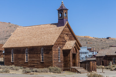 Methodist Chuch, built in 1882 and the only church still standing in Bodie. The last service was held in 1932