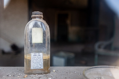 Old bottle of Honey and Almond Lotion