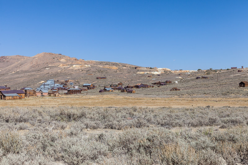 View of a portion of town looking northeast as you enter Bodie