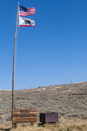 Entrance to the old western ghost town in Bodie California