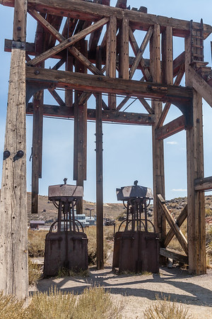 These were used to lower the miners and material into the mines