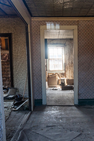 View looking into one of the old homes