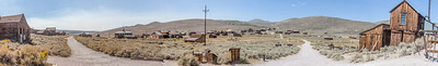 Panorama of Bodie taken from the Standard Stamp Mill looking southwest.  Wood St on the left and Union St on the right