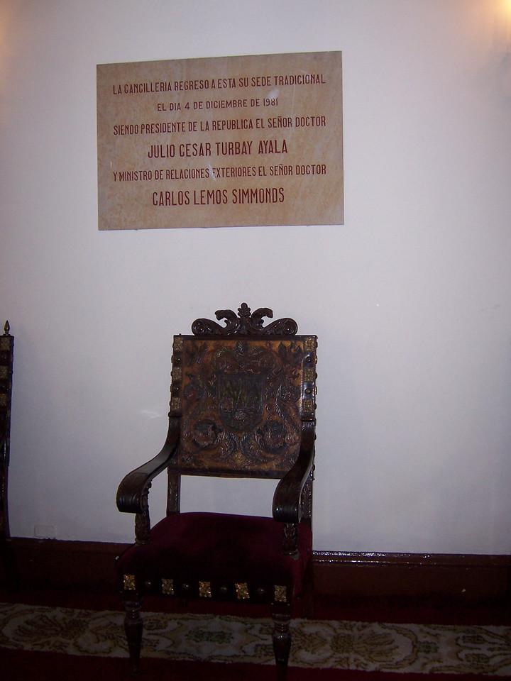 Inside the Palacio San Carlos