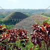 View of Chocolate Hills from a popular viewpoint in Bohol island, Philippines.