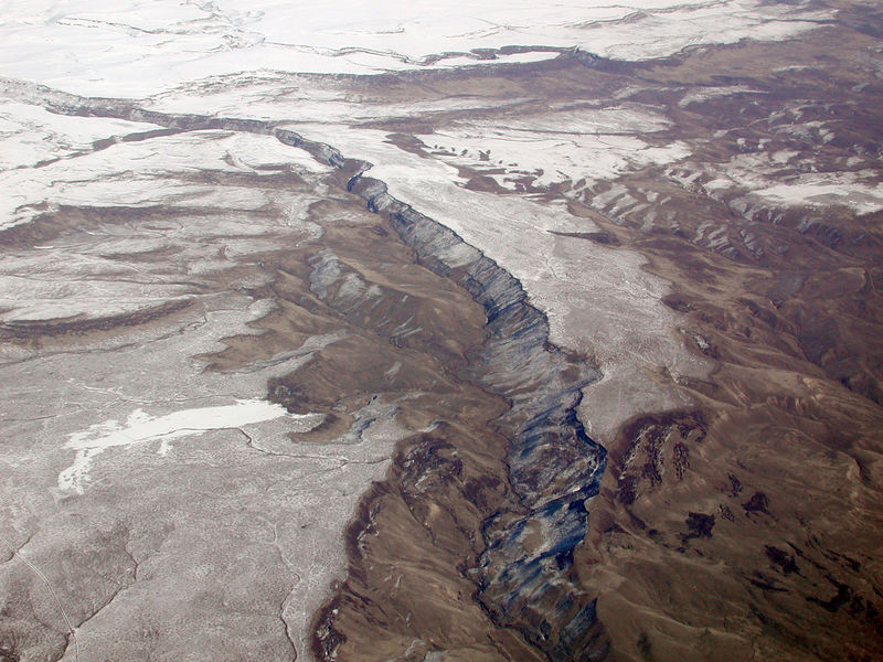 I took this image on the flight back from Boise, ID on February 10, 2006.
