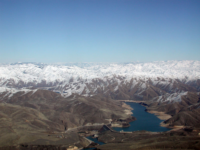 I took this image of Lucky Peak Lake as we flew east from Boise on my way back to Houston on Febuary 10, 2006.