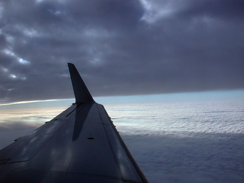 I took this image out my window as we we were starting our initial decent into Houston on the flight back from Boise, ID on February 10, 2006.