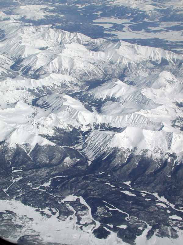 Taken February 6, 2006 on flight from Houston to Boise from 36,000 feet.