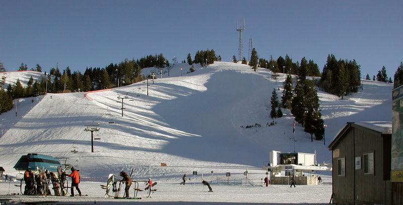 Bogus Basin ski slopes taken Febuary 9, 2006.