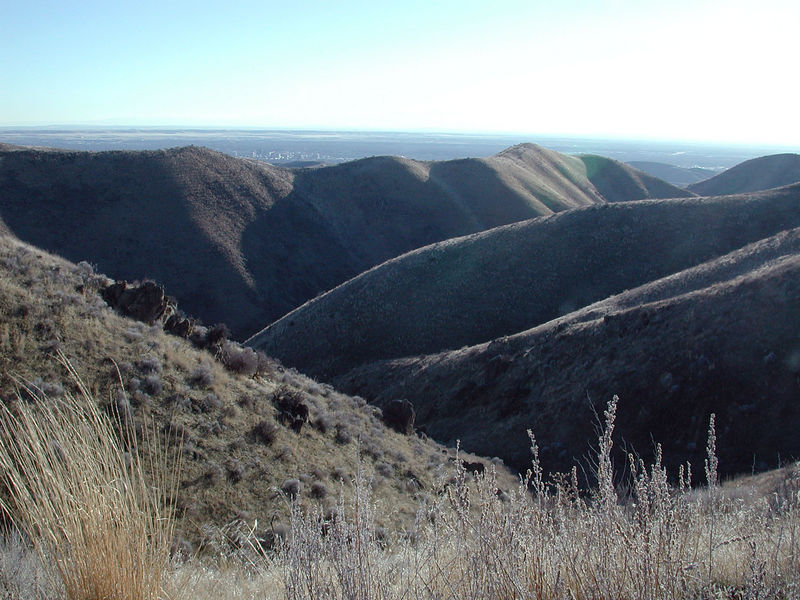 Taken on Bogus Basin Rd. on February 9, 2006.  Boise can be seen in the background.